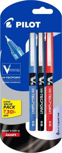 98b365764848 Pilot V5 (Pack of 3) Liquid Ink Rollerball Pen