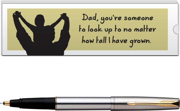 PARKER Frontier Stainless Steel GT with Dad Quote-6 Pen Gift Set