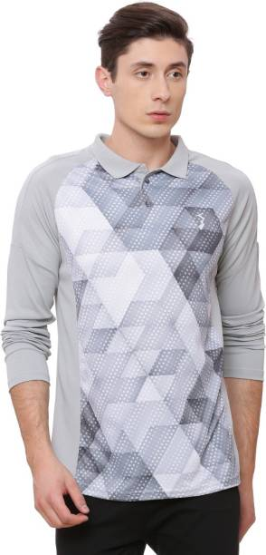 54f638d31a Campus Sutra Graphic Print Men Polo Neck Grey T-Shirt