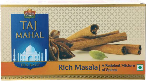 Taj Mahal Rich Spices Masala Tea Bags Box