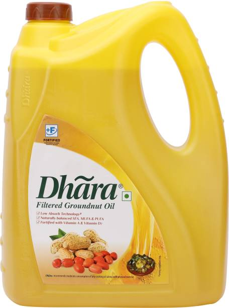 Dhara Filtered Groundnut Oil Can