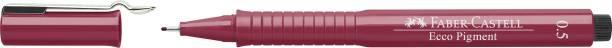 FABER-CASTELL Fibre-Tip Pen Ecco Pigment 0.5 Red – Pack
