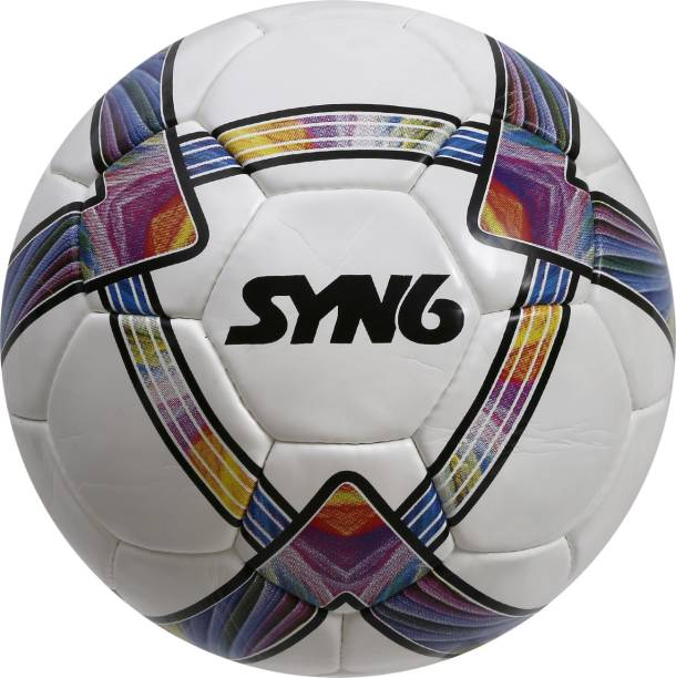 SYN6 Exceptional quality Match Ball, Size 5, built with top quality Microfiber PU and Laminated with exclusive 5 layers of Polyester Cotton. Football - Size: 5