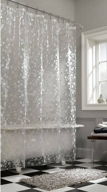 Kuber Industries 270 Cm 9 Ft Pvc Shower Curtain Single