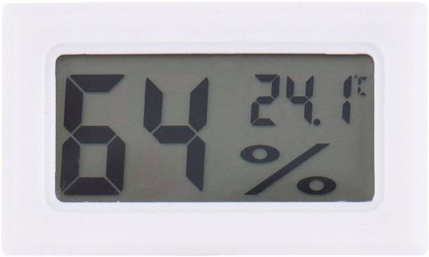 BalRama New Arrival Pocket Hygrometer Mini Small Digital Thermo Hygro Humidity Meter + Temperature Meter Tester Room Thermometer with LCD Panels Inline Connections + Built-in Detector Sensor Electronic Gauge Instant Read Thermocouple Kitchen Thermometer