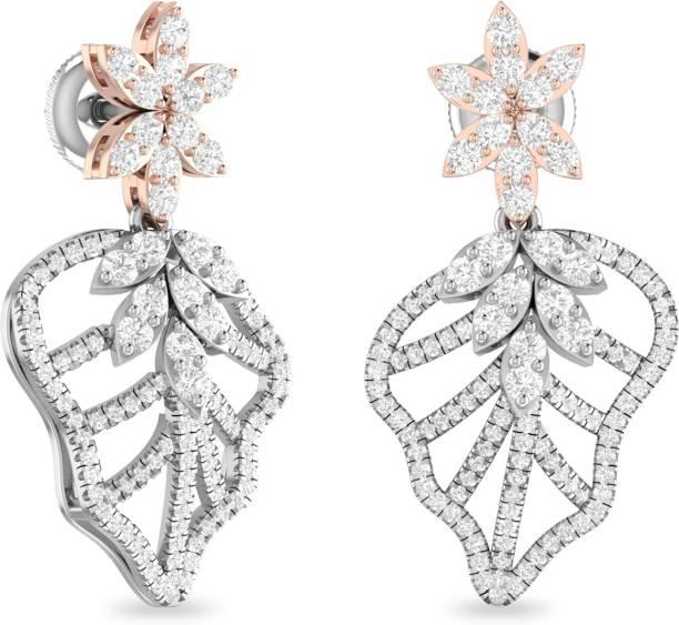 PC Jeweller The Torin Yellow Gold 18kt Diamond Dangle Earring
