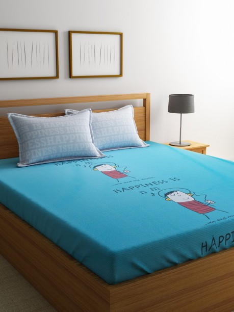 Stellar Home 144 TC Cotton Double Printed Bedsheet