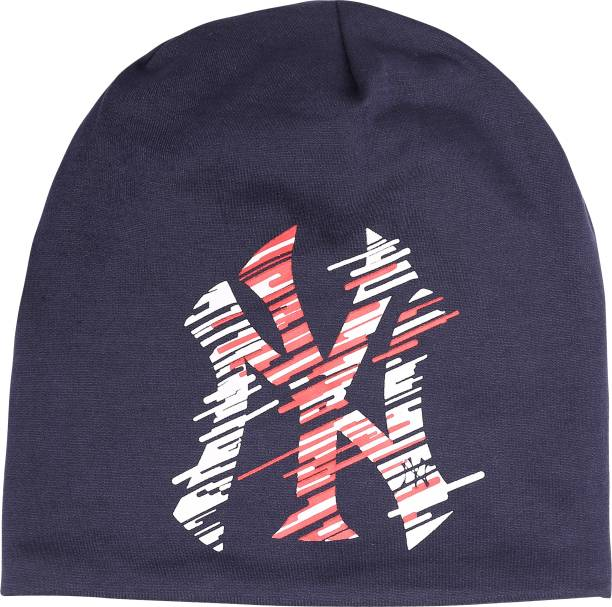 fd97428b9f47e FabSeasons Printed Solid Black Cotton Slouchy Beanie Cap for all Seasons Cap