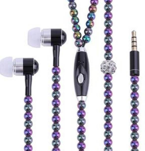 a9f77fb510b ACUTAS Fashionable Jewelry Pearl Necklace Wired Headset with Mic