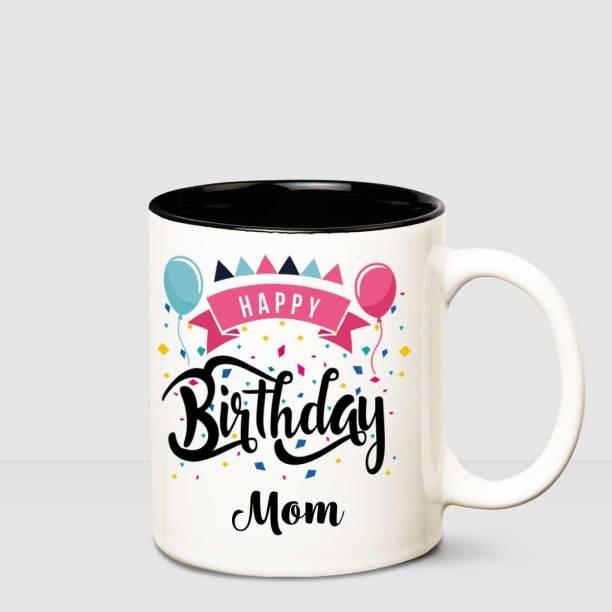 HUPPME Happy Birthday Mom Inner Black printed personalized coffee mug Ceramic Coffee Mug