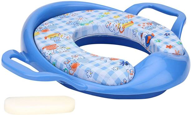3d9f47a9a19 SHRIBOSSJI Cushioned Potty Training Seat With Handles For Baby - Blue Potty  Seat