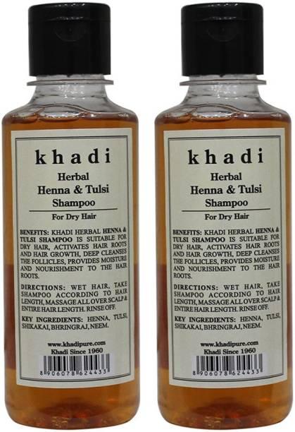 KHADI Herbal Henna & Tulsi with Extra Conditioning Shampoo-210ml