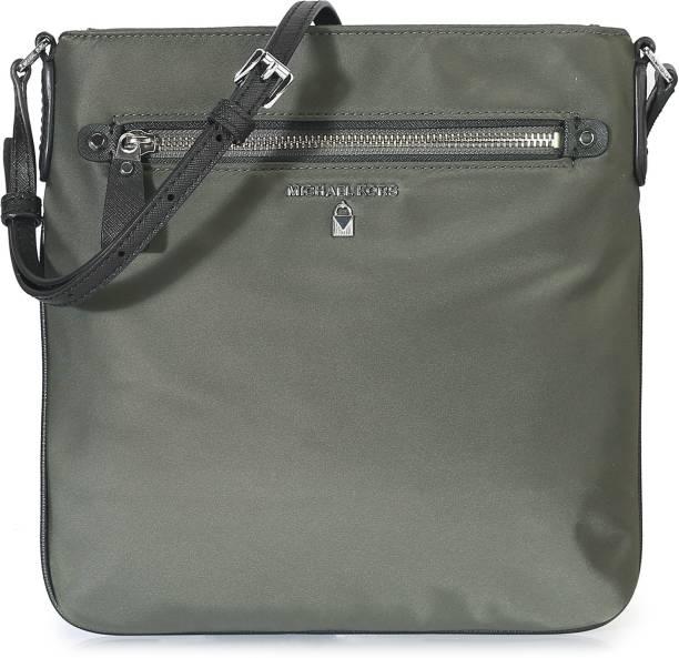Michael Kors Women Casual Grey Genuine Leather Sling Bag