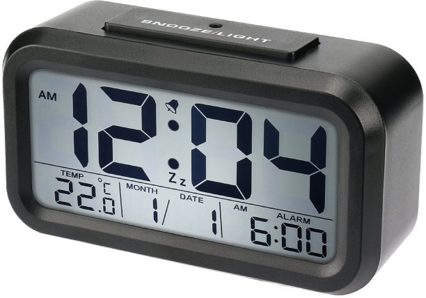 BonZeal Digital Black Clock
