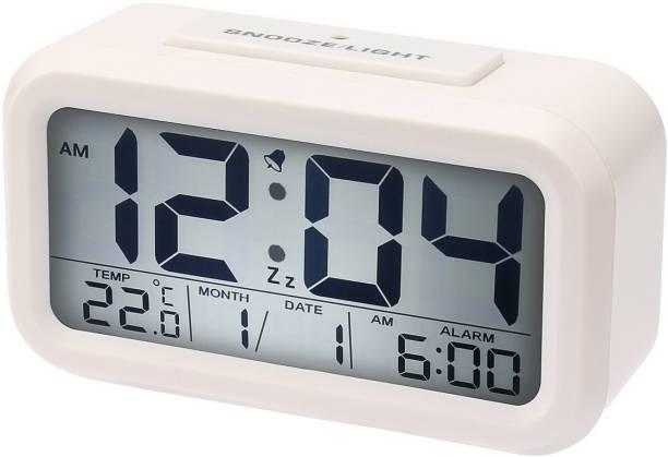 Bonzeal Digital White Clock