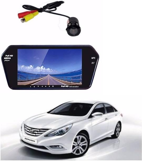 Auto Garh M90 Rear View Mirror 7 Inch Monitor With Bluetooth & Camera For Indigo Black LED