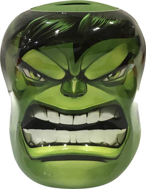 MARVEL Hulk Shape Coin Bank for Kids Coin Bank