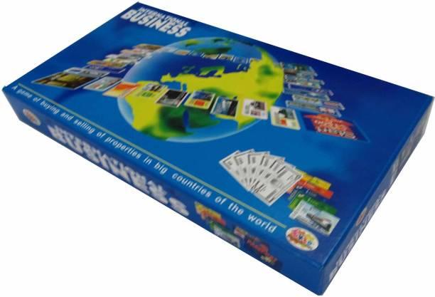 Ekta International Business A Board Game of Buying, Selling, Banking, Mortgaging, etc. Kids Toys Games, Bonanza Money & Assets Games Board Game