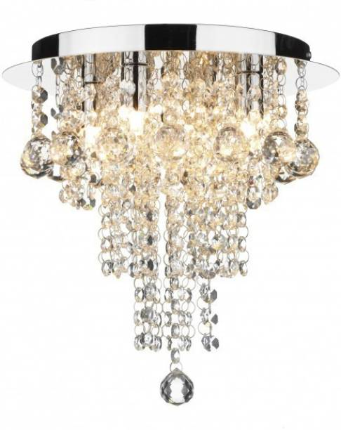 Chandeliers buy chandeliers online at best prices in india discount4product modern ceiling light led light glass beads crystal pendant fixture 35 cm wide aloadofball Gallery