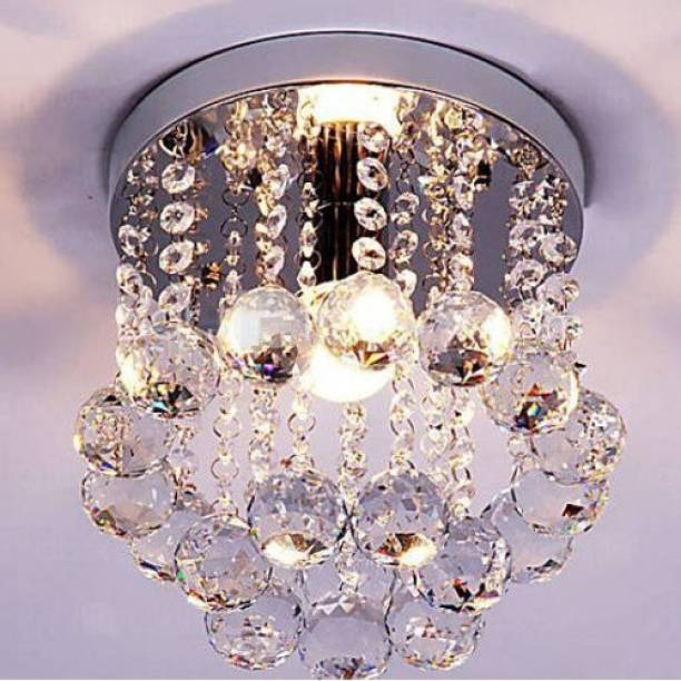 Chandeliers buy chandeliers online at best prices in india discount4product modern ceiling light led light glass beads crystal pendant fixture 27 cm wide aloadofball Image collections