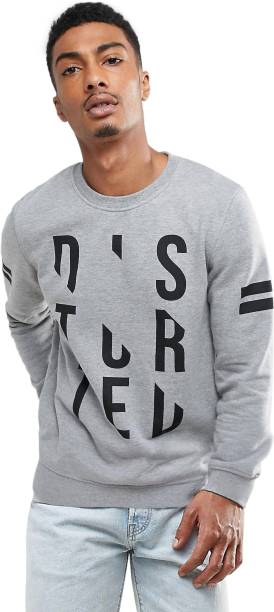 Genius18 Full Sleeve Printed Men's Sweatshirt
