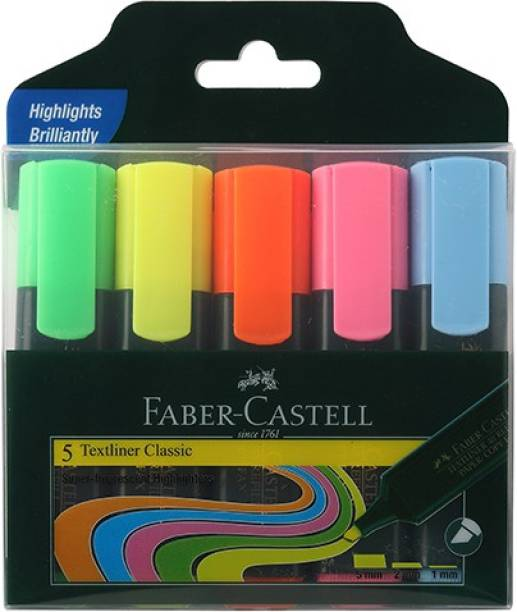 FABER-CASTELL Textliner Assorted Set Of 5 (Classic)
