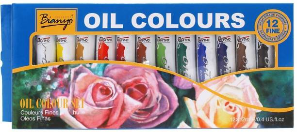 Bianyo Artist Quality Oil Color S Paint Set 12ml 12 Shades