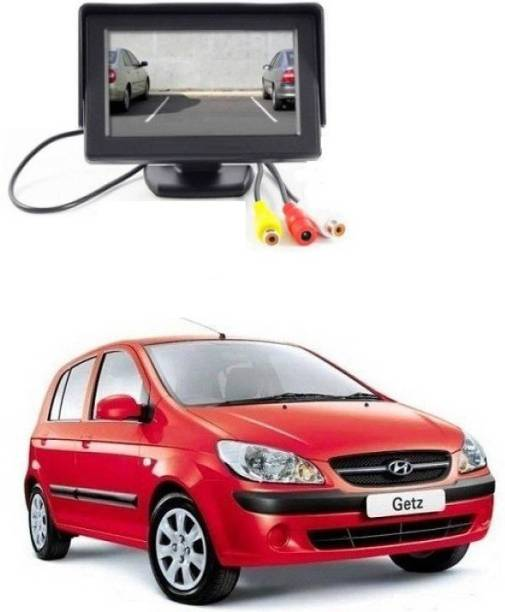 Auto Garh TFT Monitor & LED Reverse Parking Camera With 1YR Warranty For Getz Black LCD