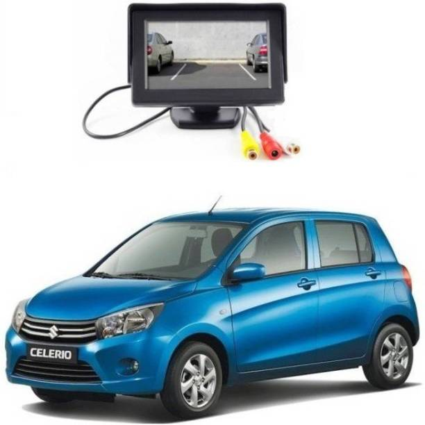 Auto Garh TFT Monitor & LED Reverse Parking Camera With 1YR Warranty For Celerio Black LCD