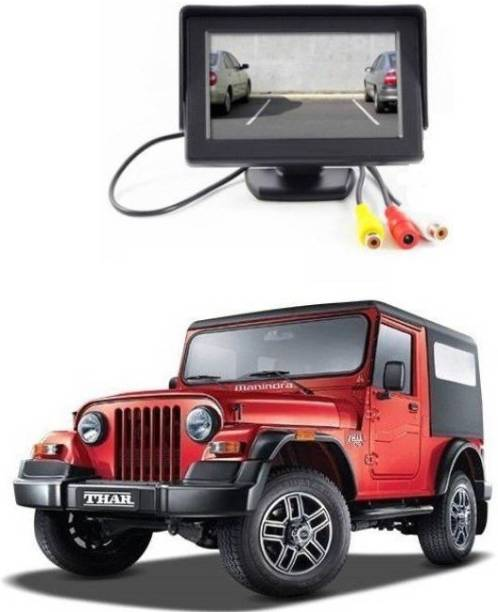 Auto Garh TFT Monitor & LED Reverse Parking Camera With 1YR Warranty For Thar Black LCD