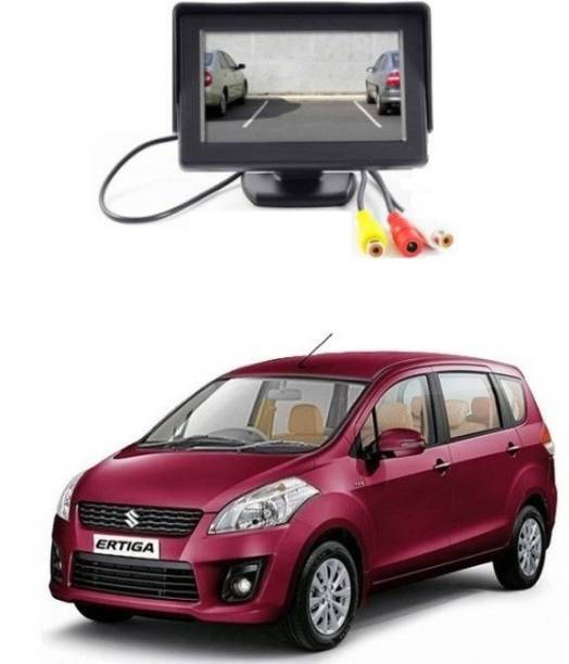 Auto Garh TFT Monitor & LED Reverse Parking Camera With 1YR Warranty For Ertiga Black LCD