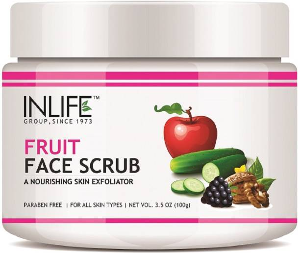 Inlife Natural Fruit Face Scrub, Paraben Free Best Exfoliator For Acne Scrub