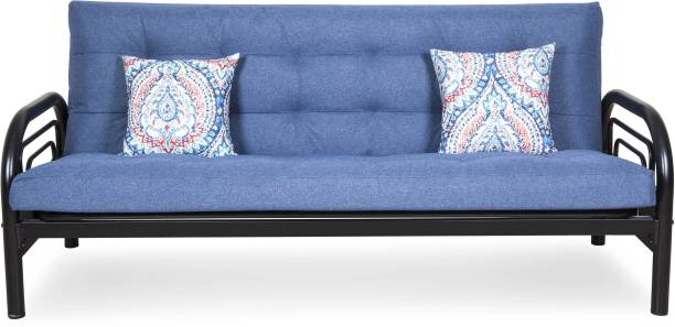 FurnitureKraft Ankara Single Metal Futon Finish Color   Black Mechanism Type   Fold Out Delivery Condition   Knock Down