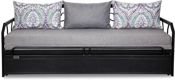sofa cum bed. FurnitureKraft Caen Double Metal, Engineered Wood Sofa Bed Cum T