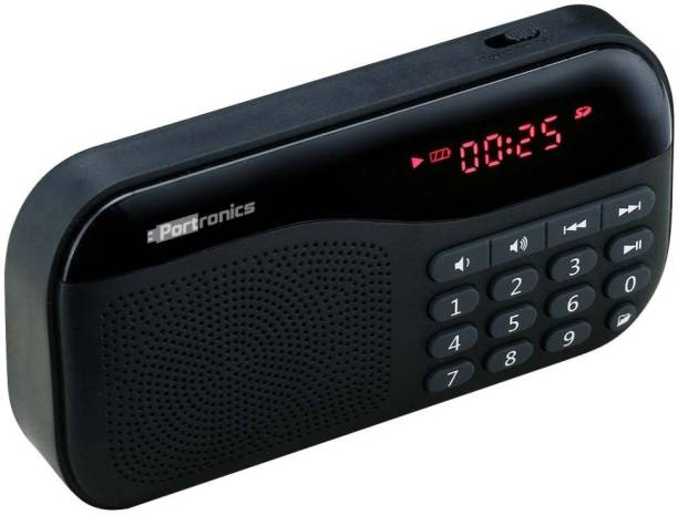 Portronics Plugs POR 141/Plugs Portable Sound system with FM 2.5 W Portable Mobile/Tablet Speaker