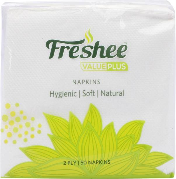 Freshee Value Plus 2 Ply White Napkins