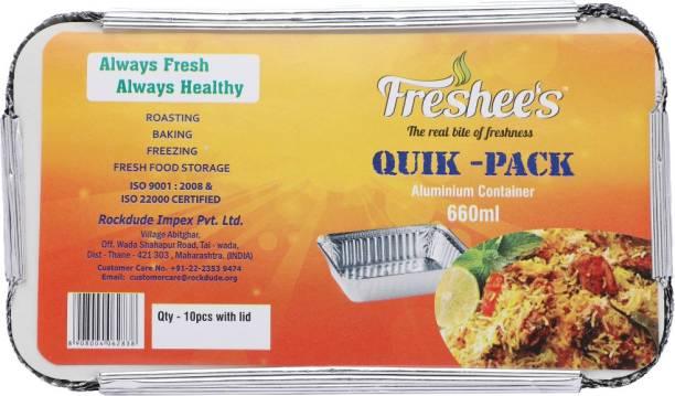Freshee Quik - Pack Aluminium Container 660 ml Tray