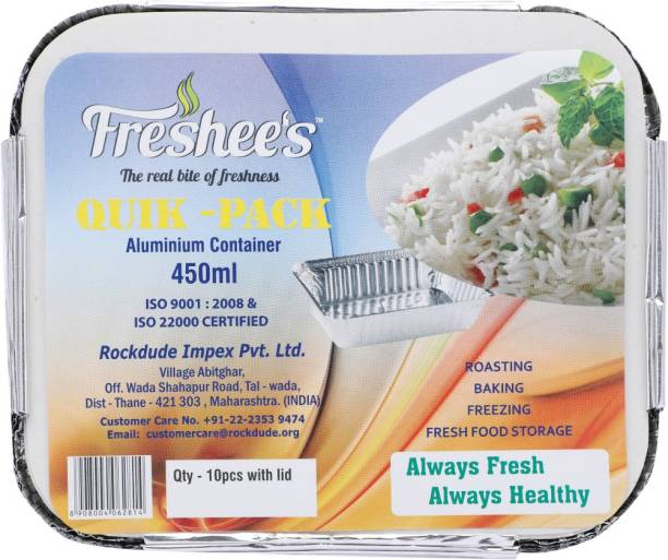Freshee Quik - Pack Aluminium Container 450 ml Tray