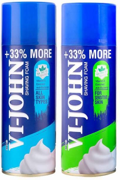 VI-JOHN Shave Foam All Type & Sensitive