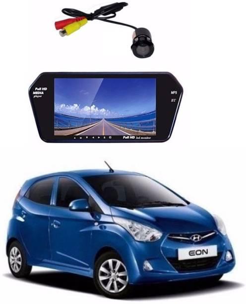 Auto Garh Rear View 7 Inch Bluetooth Monitor & Camera with 1 YR Warranty For Eon Black LED