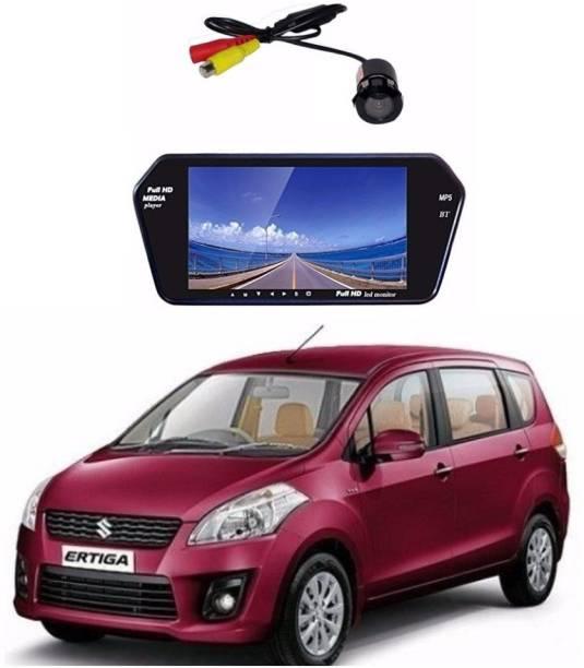 Auto Garh Rear View 7 Inch Bluetooth Monitor & Camera with 1 YR Warranty For Ertiga Black LED