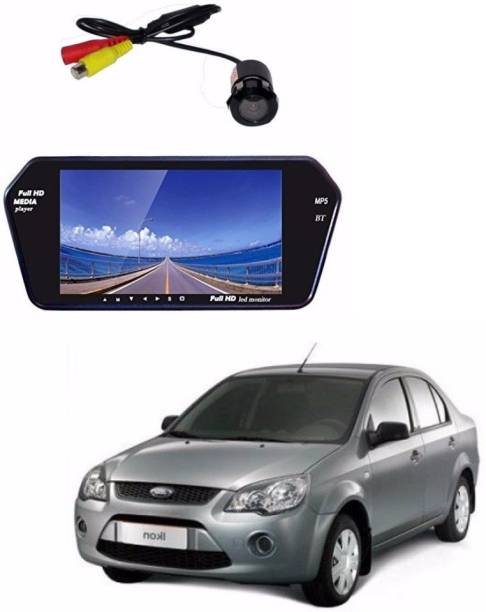 Auto Garh Rear View 7 Inch Bluetooth Monitor & Camera with 1 YR Warranty For Ikon Black LED
