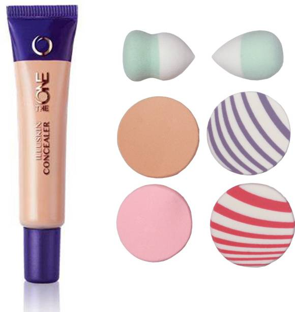 Oriflame Sweden The ONE IlluSkin Concealer (Nude Pink - 30616) With Puff Sponge
