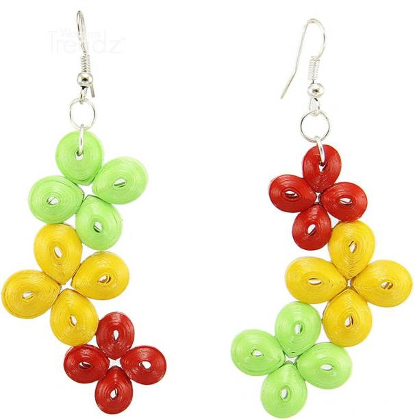 9d09d2252 Womens Trendz Handcrafted Paper Quilling Fashion Jewellery Set for Women  and Girls Paper Drops & Danglers
