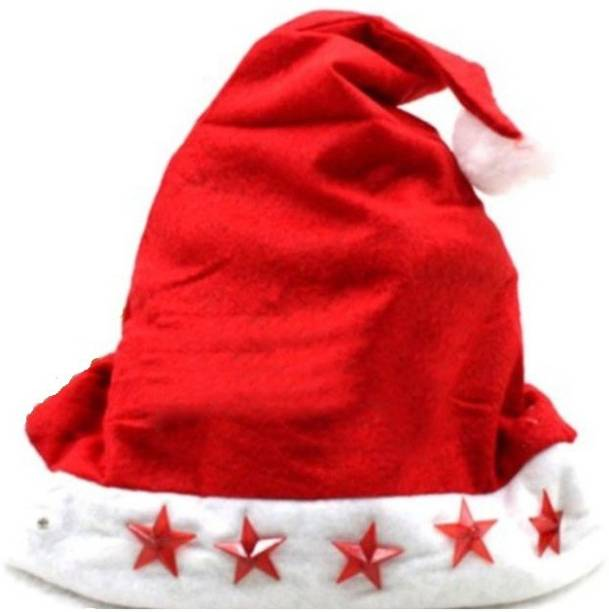 f3fc8e65c00d1 M-Alive 10 New Santa Hat with Flashing Lights Angel Figurine Pack of 10