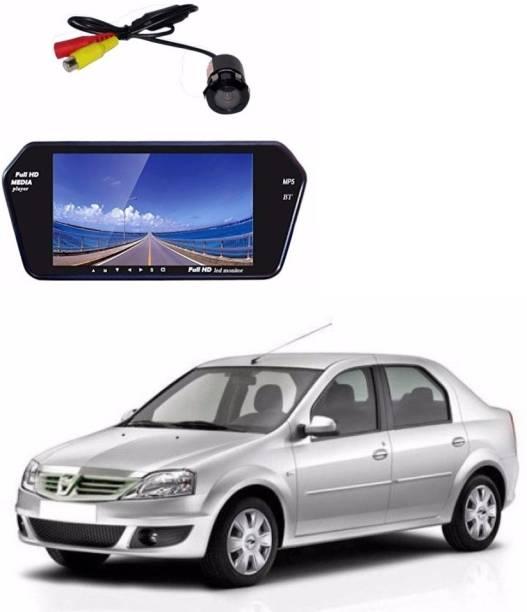 Auto Garh M54 Rear View Mirror 7 Inch Monitor With Bluetooth & Camera For Verito Black LED