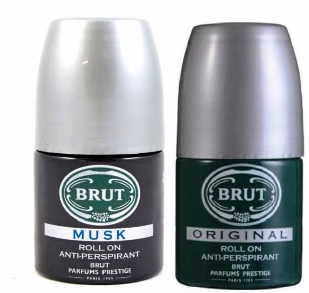 BRUT Original+Musk Anti-Perspirant Roll On Deodorant Roll-on  -  For Men