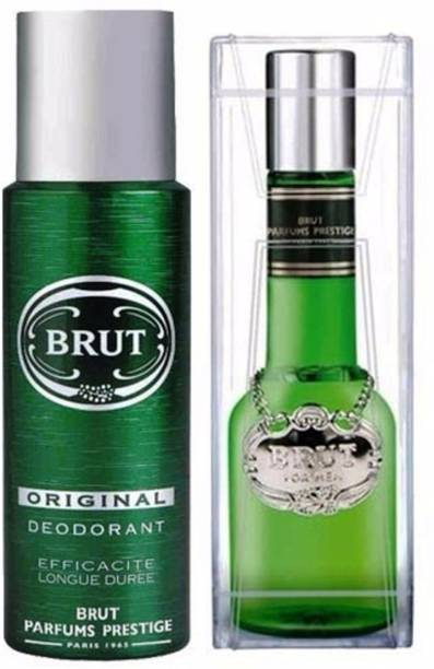 BRUT Orginal Edt Spray Lotion+Deodorant Deodorant Spray  -  For Men