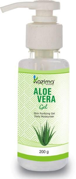 KAZIMA Pure Natural Raw Aloe Vera Gel (200 Gram) - Ideal for Skin Treatment, Face, Acne Scars, Hair Treatment