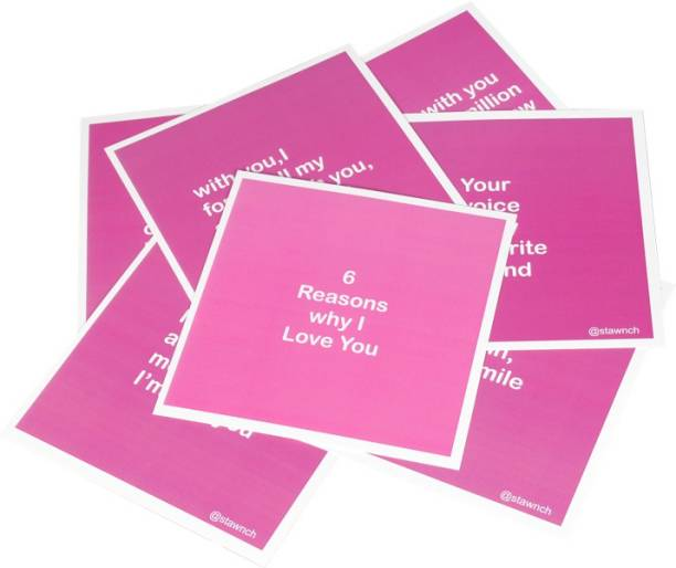 Birthday card buy birthday card online at best prices in india stawnch 6 reasons why i love youset of 6 cards size 6 x m4hsunfo